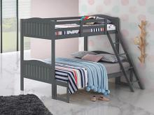 405054GRY Taylor & olive mayapple grey finish twin over full bunk bed set