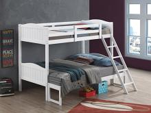 405054WHT Taylor & olive mayapple white finish twin over full bunk bed set