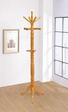 4059 Cooper grove macelmons oak finish turned wood multiple hook spindled coat rack