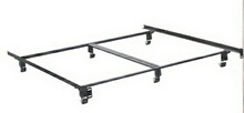 Cal king size elite holly-matic bed frame with rug rollers with headboard attachment