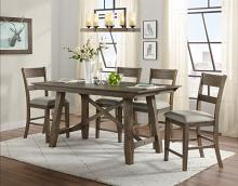 VH-4300-5PC 5 pc Gracie oaks hillcrest brown and grey wirebrush finish wood counter height dining table set