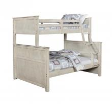 461252 Taylor & olive reece antique white finish wood twin over full bunk bed set