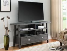 4808-GY Jarvis gray finish wood tv stand console with drawers