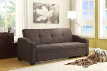 Homelegance 4829LN Caffery gray fabric folding futon sofa bed cup holders