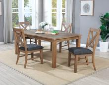 VH-4850-5PC 5 pc Gracie oaks granada natural distressed pine finish wood dining table set