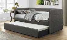 4975 Vining dark gray fabric contemporary twin day bed with trundle