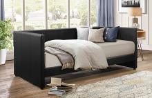 4979BK Tristan II black faux leather twin day bed