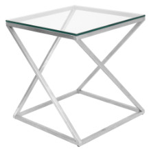 Lumisource TB-CT4Z-SS 4Z End Contemporary Table in Clear