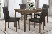 Homelegance 5039BR-48-5PC 5 pc Darby home co Ahmet walnut finish wood dining table set