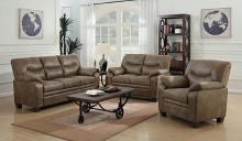 506561-62 2 pc Winston porter mulford meagan brown fabric sofa and love seat set