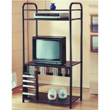 "33"" wide medium Black metal finish entertainment center"