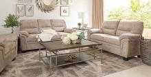 509251 2 pc Bronx ivy avianna holman beige velvet fabric sofa and love seat set