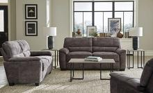 509751-52 2 pc Winston porter clermont hartsook charcoal grey velvet sofa and love seat set