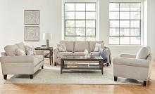 509781-82 2 pc Orren ellis mullens Nadine oatmeal chenille fabric sofa and love seat set