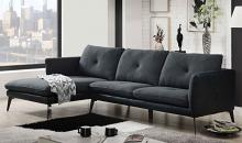 Acme 51480 2 pc Alcott hill bracken harun gray fabric sectional sofa set