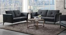 Acme 51490-91 2 pc Alcott hill bracken harun gray fabric sofa and love seat set