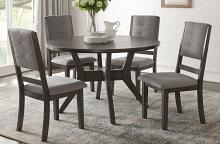 """Homelegance 5165GY-48 5 pc Canora grey Nisky gray finish wood 48"""" round dining table set"""