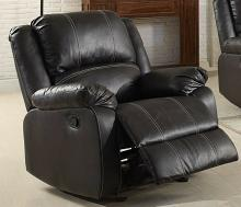 Acme 52287 Zuriel black faux leather rocker recliner chair