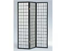 3 panel black room divider shoji screen