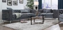 Acme 53385-88 2 pc Darby home co gillian II dark gray velvet sofa and love seat set