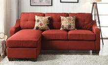 Acme 53740 2 pc Winston porter orchard cleavon II red linen fabric sectional sofa with reversible chaise
