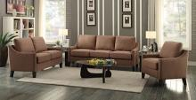 Acme 53765-66 2 pc zapata brown linen fabric sofa and love seat set