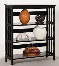Asia Direct 5416-ESP Cade holland 3 tier espresso finish wood book shelf