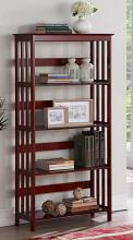 Asia Direct 5417-CH Red barrel studio chad 4 tier book shelf cherry finish wood