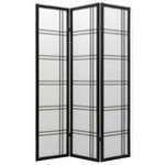 3 panel room divider shoji screen modern double cross design ( 4 & 5 Panel Available )