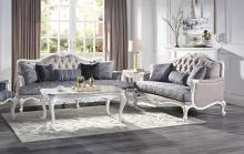Acme 54310-11 Astoria Grand ciddrenar white finish wood carved accents sofa and love seat set