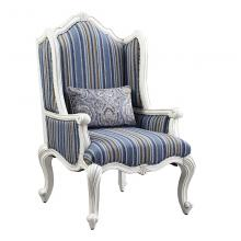 Acme 54312 Astoria Grand ciddrenar white finish wood carved accents wing back style accent chair