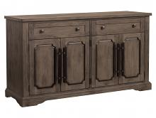 Homelegance HE-5438-40 Darby home co toulon distressed dark oak finish wood curio cabinet side server buffet console