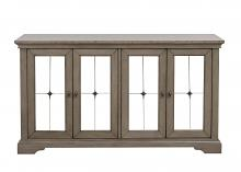 5442-40 Vermillion oak bisque finish wood sideboard server buffet cabinet