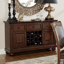 Homelegance 5473-40 Lordsburg brown cherry finish wood buffet server sideboard console cabinet