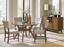 "Homelegance HE-5492-52-5PC 5 pc Edam neutral tone finish wood mid century modern 52"" round dining table set"