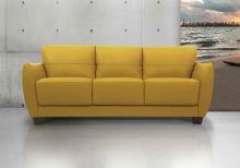 Acme 54945 Valeria Mi Piace modern mustard top grain leather sofa
