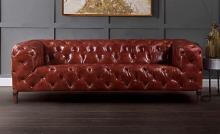 Acme 55070  17 stories diep orsin merlot top grain leather sofa with tufted backs and seat