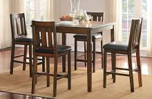 Homelegance 5511-36-5PC 5 pc Darby home co delmar espresso finish wood counter height dining table set