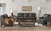 552051 2 pc Red barrel studio hawkins Claytongrey breathable leatherette set back arms sofa and love seat set
