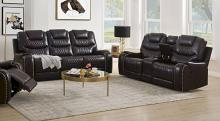 Acme 55415-16 2 pc Red barrel studio braylon browny faux leather sofa and love seat set recliner ends