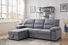 Acme 55525 Nazli drake gray fabric sectional sofa with pop up chaise with storage and sleep area