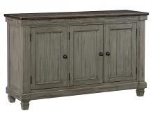 Homelegance 5627GY-40 Willow bend antique gray and coffee finish wood server buffet console cabinet