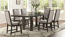Homelegance 5654-92 7 pc Darby home co Rathdrum dark oak finish wood dining table set