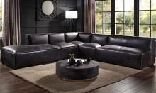 Acme 56585-86-87-88 5 pc Rosdorf park Birdie antique slate top grain leather modular sectional sofa
