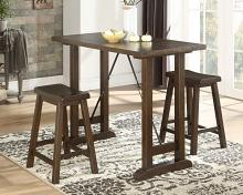 Homelegance 5686-32 3 pc Canora grey bracknell brown cherry finish wood counter height dining table set