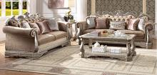 Acme 56930-31 2 pc Rosdorf park leanos northville antique silver finish wood velvet fabric sofa and love seat set