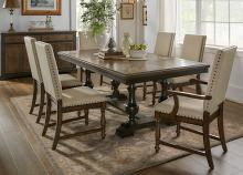 Homelegance 5703-104 7 pc Darby home co stonington charcoal brown finish wood dining table set