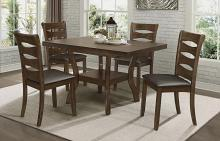 Homelegance 5712-54-5PC 5 pc Canora grey Darla brown finish wood butterfly leaf dining table set