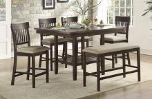 Homelegance 5716-36-S1-6PC 6 pc Darby home co Balin dark brown finish wood counter height dining table set with bench