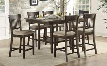 Homelegance 5716-36-S1-7PC 7 pc Darby home co Balin dark brown finish wood counter height dining table set